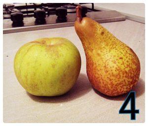 torta vegan pere, mele e cioccolato