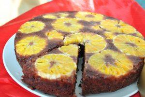 torta cacao e arance