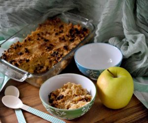 Crumble vegano di mele